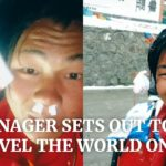 A Chinese Teen Travels The World On Foot